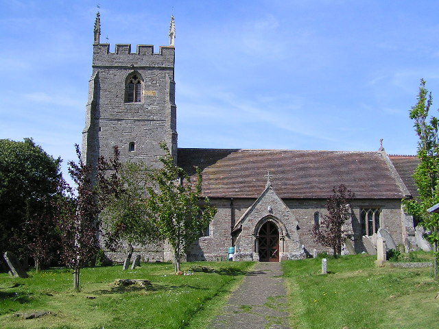 Photo of Nave and west tower of the parish church of St James the Greater, Bishampton, Worcestershire, seen from the south