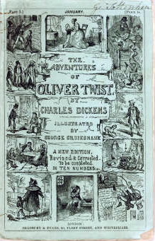 "English: Cover of Dickens serial, ""Oliver..."