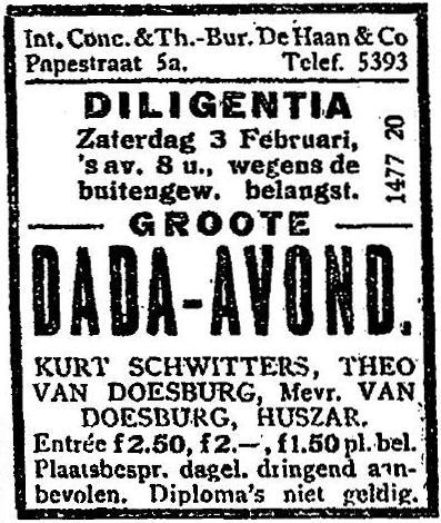 Dada performance in Amsterdam
