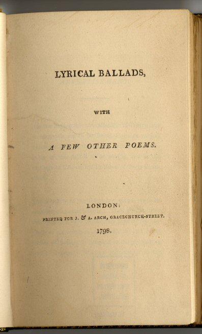 LYrical Ballads First Page