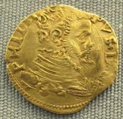 Sicilia, scudo d'oro di filippo II di spagna, 1556-1598