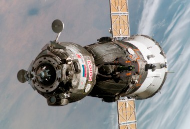 Russian Soyuz TMA-6 spacecraft (Photo Credit: NASA)