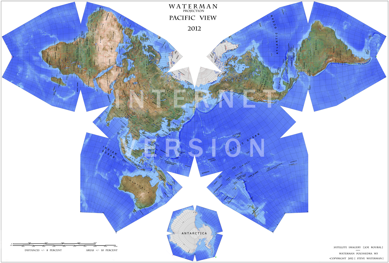The Waterman Butterfly World Map Unfolding A Globe