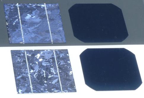 Comparison solar cell poly Si vs mono Si - Alimenta tu Arduino con un panel solar hecho por ti