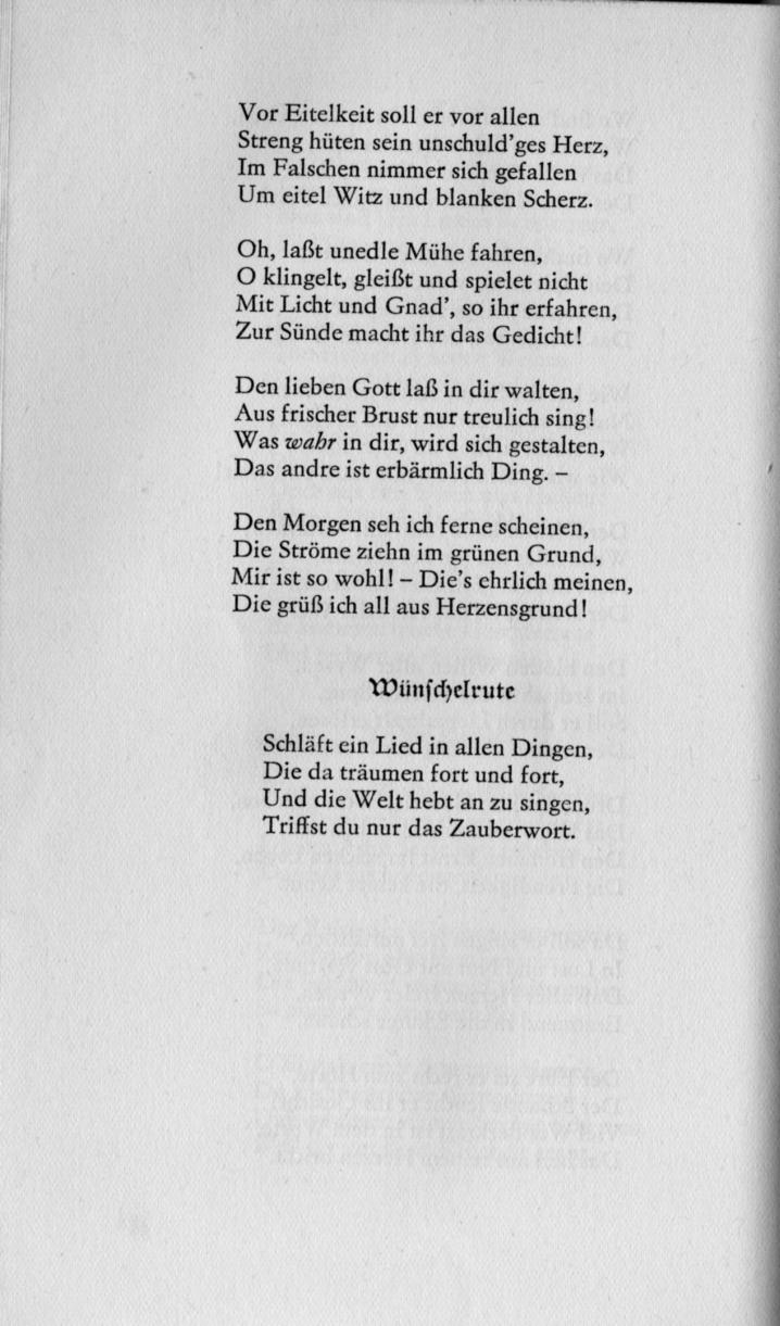 Gedicht Joseph Von Eichendorff Der Grund Gedicht Joseph Von