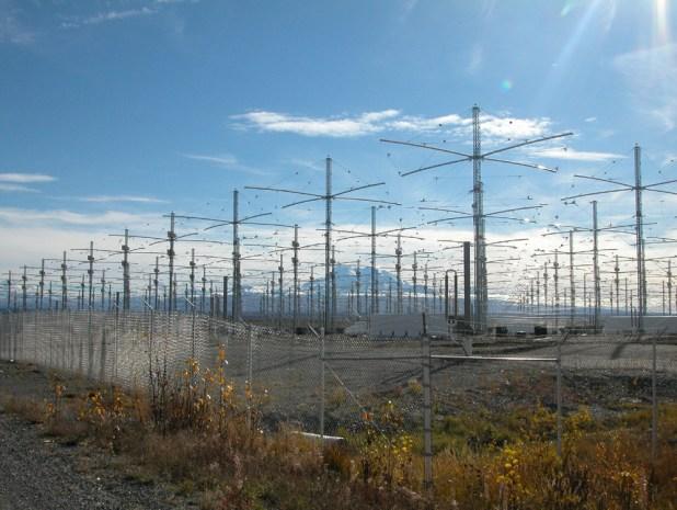 Alcune antenne dell'installazione nota come HAARP.
