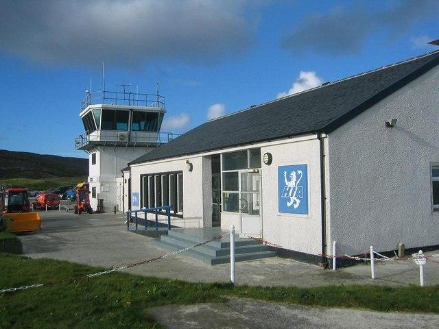 English: Barra Airport Terminal Building. Barr...