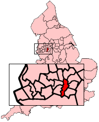 Manchester shown within England