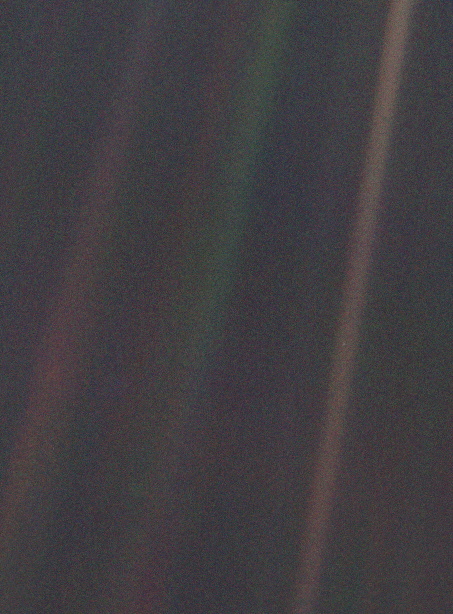 Voyager pale blue dot photo