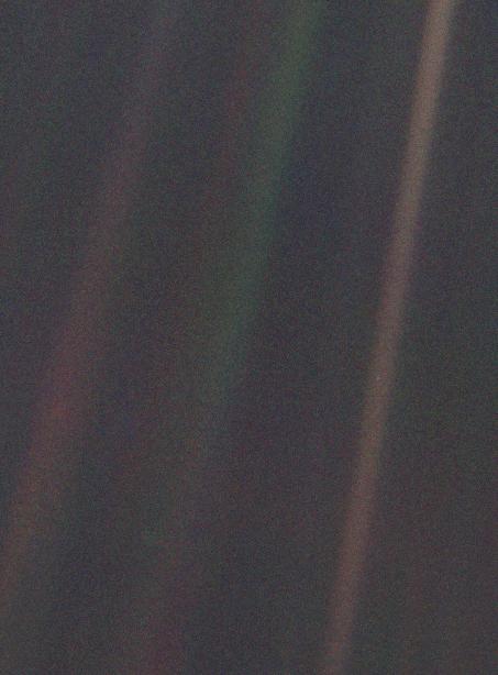 Voyager pale blue dot photo