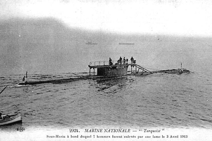 French Submarine Turquoise 1908 Wikipedia