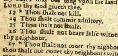 English: A section of a page from the Wicked B...