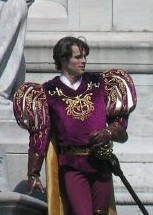 James Marsden on the set of