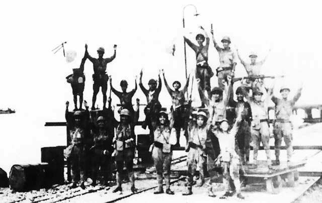 File:The Japanese 2d Division celebrates landing at Merak, Java.jpg