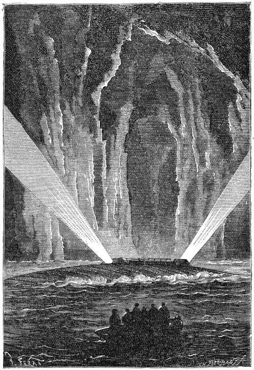 Illustration for Jules Verne's The Mysterious Island, by Jules Férat