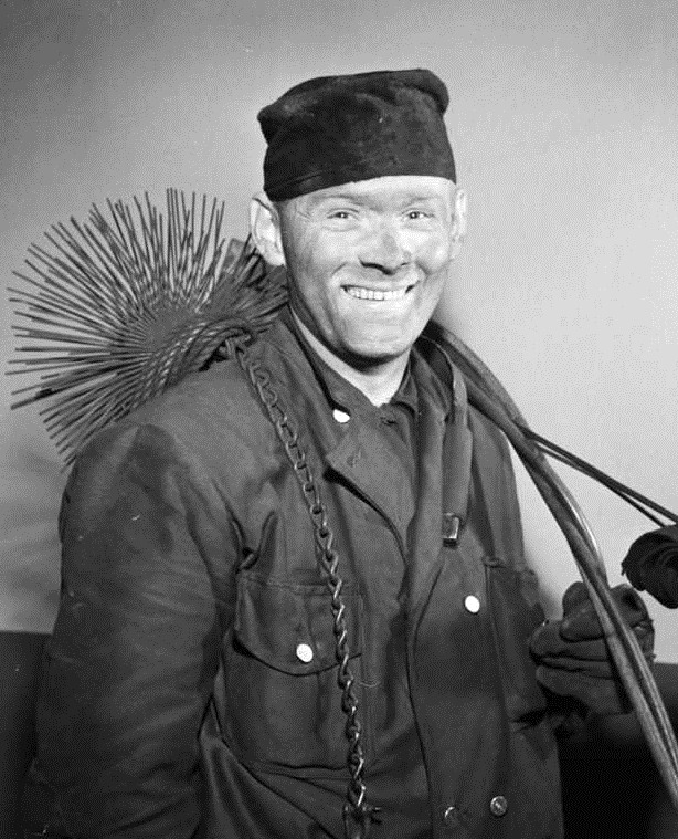 Chimney sweeper by Wikimedia
