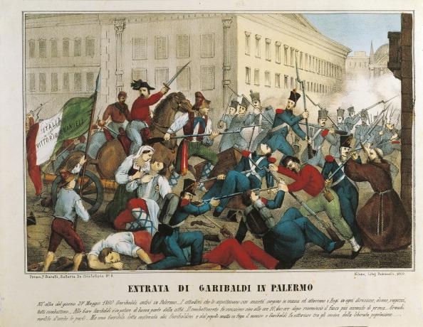 Giuseppe Garibaldi entering Palermo.