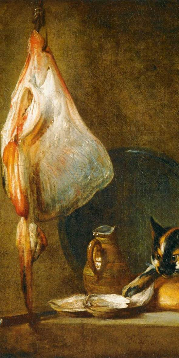 Still-Life with Cat and Rayfish