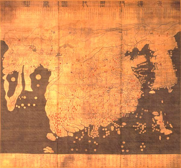 Historical Map of China, 1402.