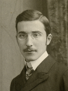 English: Stefan Zweig in Vienna, circa 1900