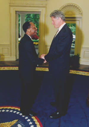 Aristide with Clinton