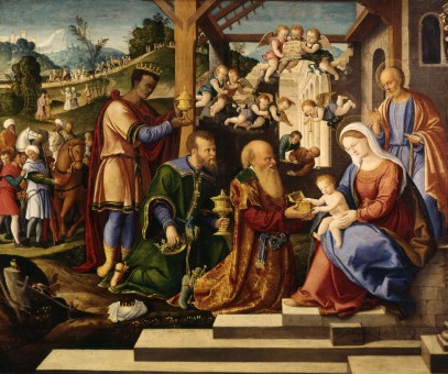 Image result for 3 kings bring gifts renaissance art
