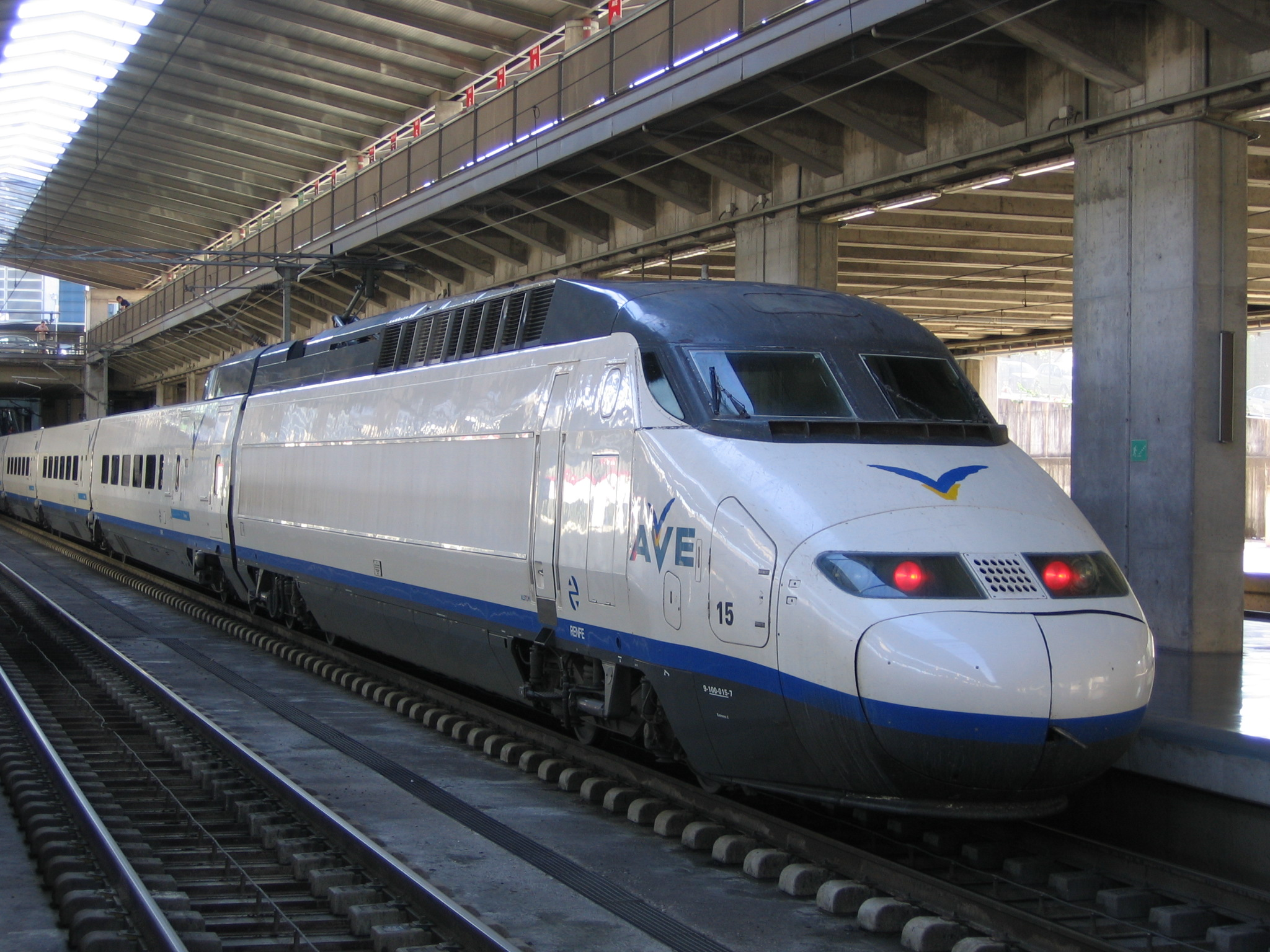 The high speed train (can achieve speeds of up...