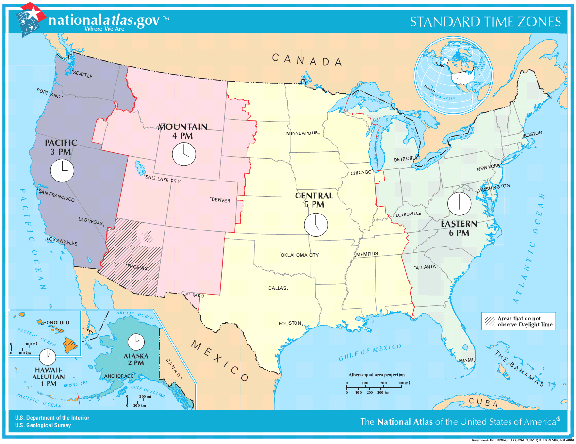 How Many Time Zones Usa