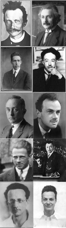 Left to right: Max Planck, Albert Einstein, Ni...