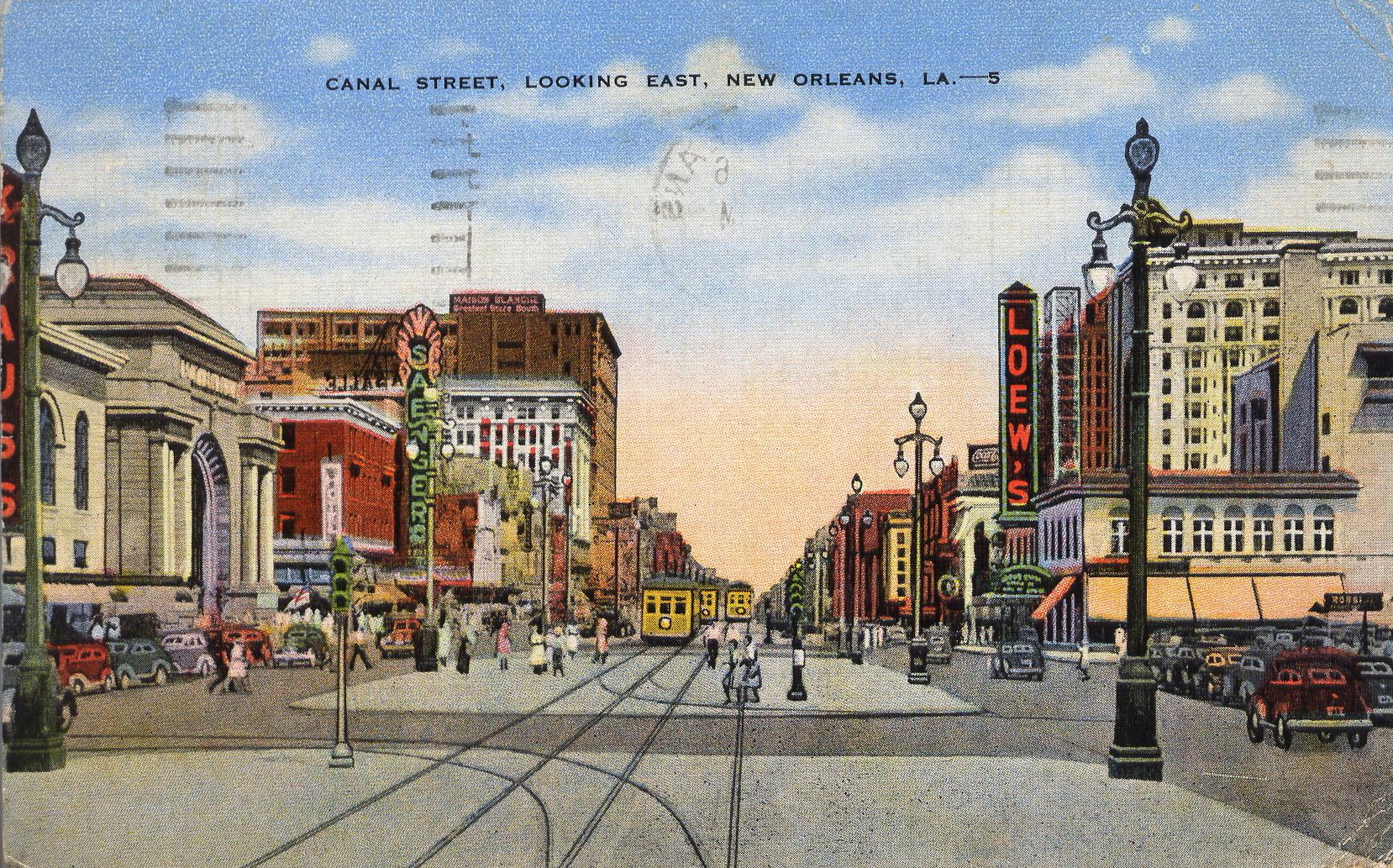 Postcard View of Canal Street