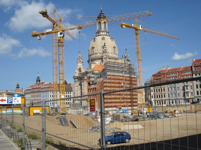 Die Frauenkirche als Baustelle