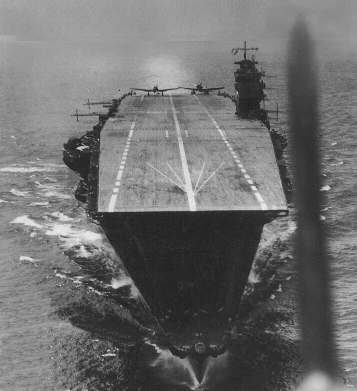 Air craft carrier akagi sending planes to attack ceylon