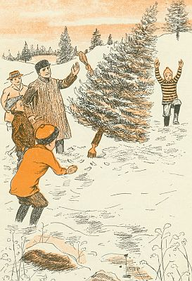 Illustration from children's novel, Christmas ...