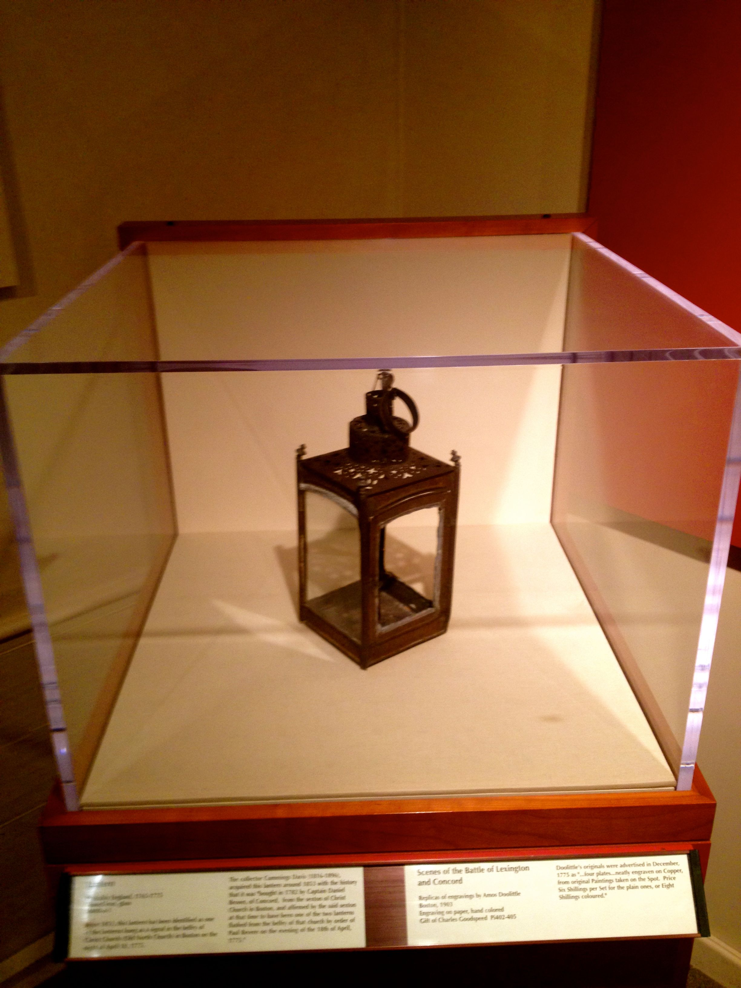 File Lantern Hung In The Old North Church On The Night Of