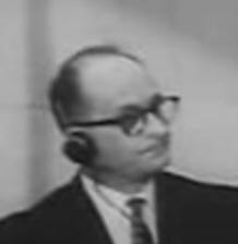 Deutsch: Adolf Eichmann (* 1906; † 1962), SS-O...
