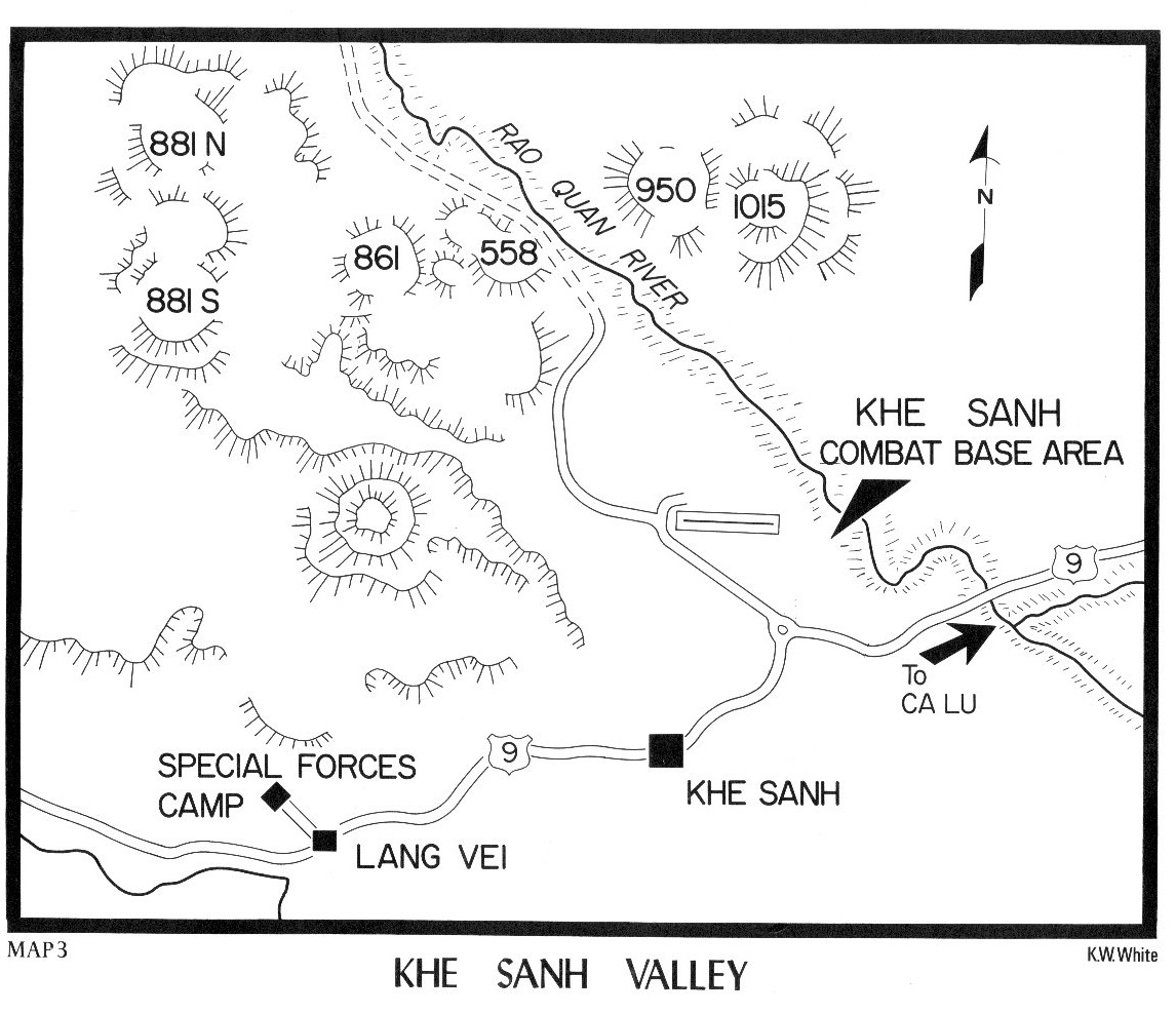 Map Idea Hill Fights The Battle Of Khe Sanh And Hill