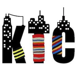 English: Knit the City graffiti group logo