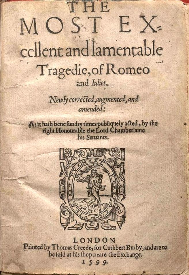 English: Title page of the second quarto editi...