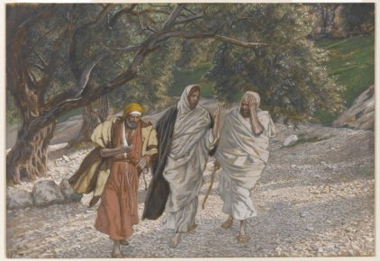 Brooklyn Museum - The Pilgrims of Emmaus on the Road (Les pèlerins d'Emmaüs en chemin) - James Tissot -  [No restrictions or Public domain], via Wikimedia Commons.