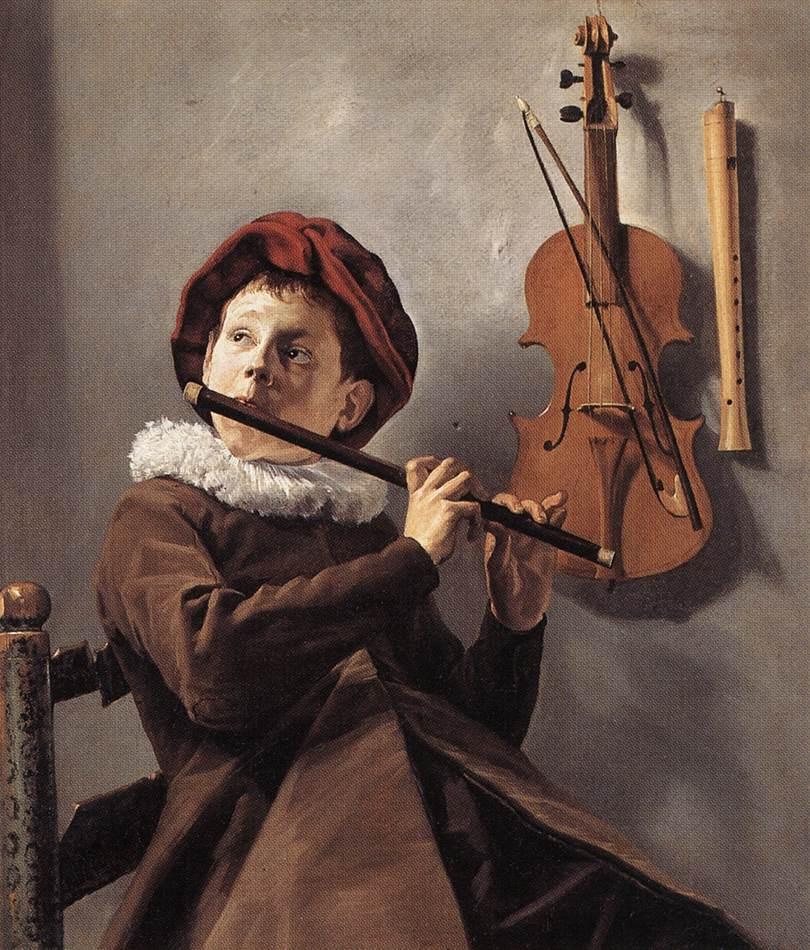 Jove tocant la flauta, de Judith Leyster [Public domain], via Wikimedia Commons