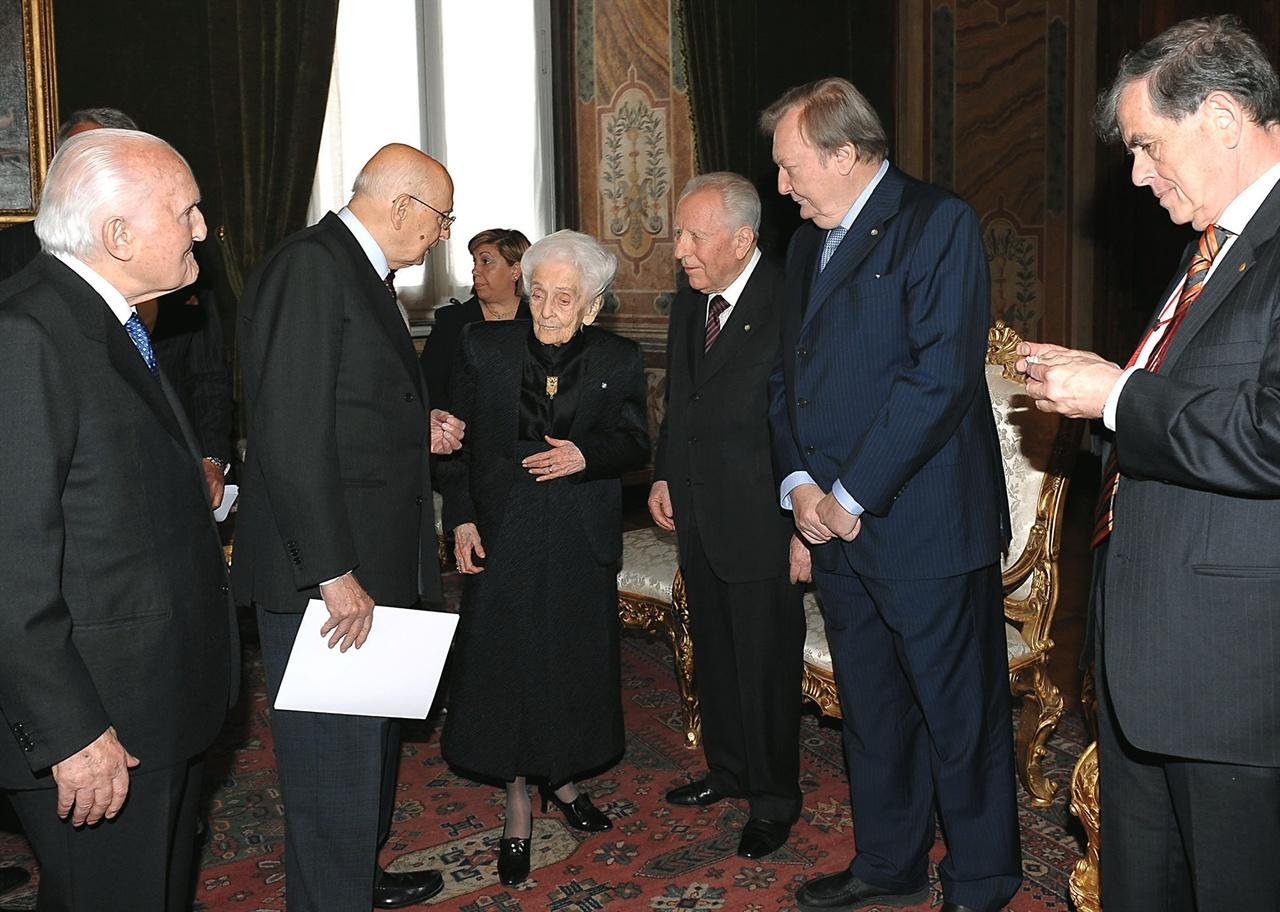 Giorgio Napolitano con Rita Levi Montalcini, O...