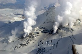 Image result for 2006 – Fourpeaked Mountain in Alaska erupts