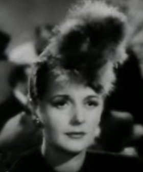 Cropped screenshot of Mary Astor from the trai...