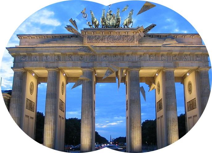 Positives Skotom (Brandenburger Tor Blaue Stunde) 1