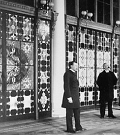 The Entrance Hall of the White House in 1882, ...