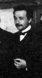 Albert Einstein cropped from photograph of par...