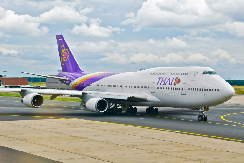 Image result for thai airways 747