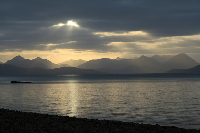 English: View of the Cuillin from Applecross T...