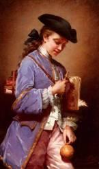 Jeanne Bôle, L'Enfant au Bilboquet, vers 1880.