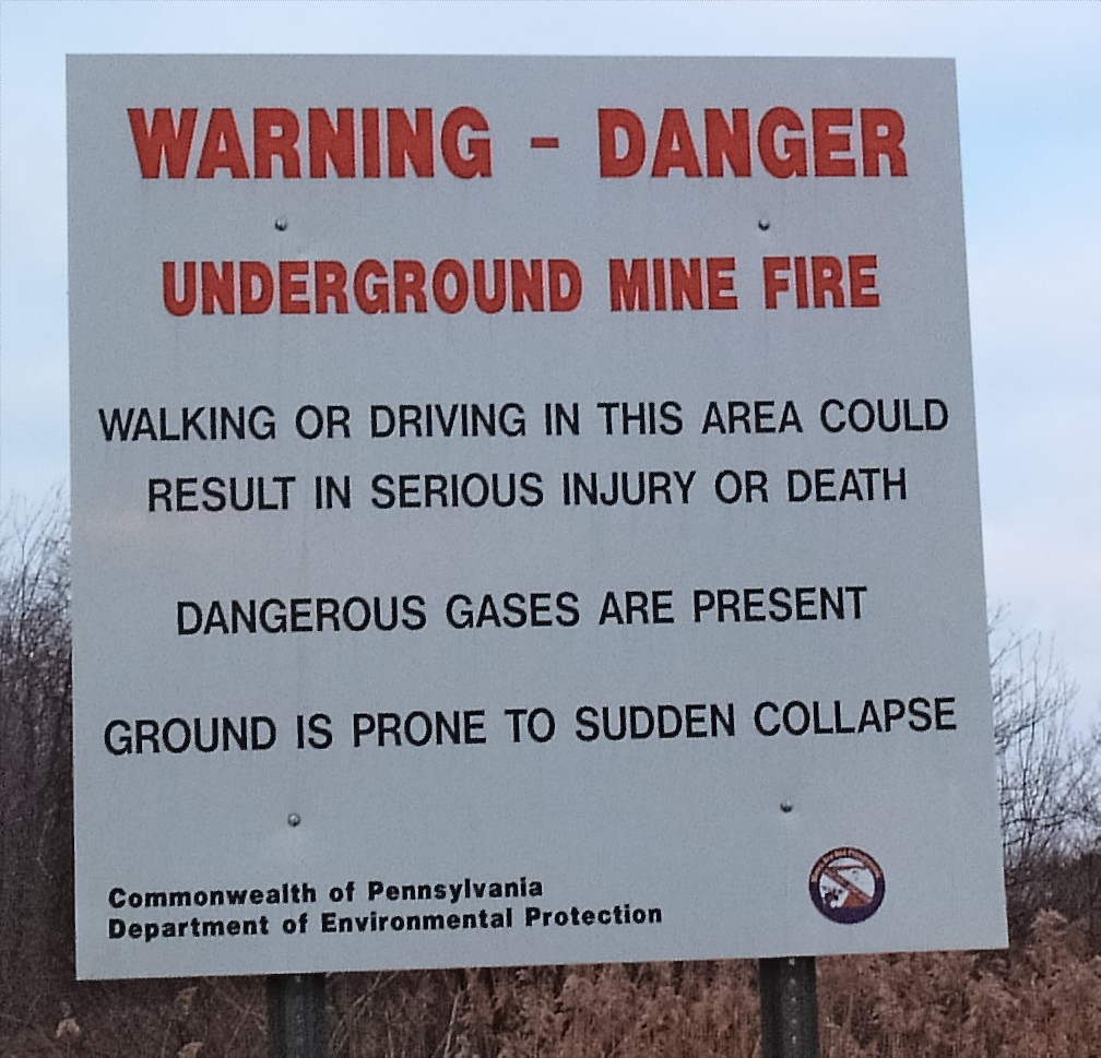 Warning Sign - Mine fire
